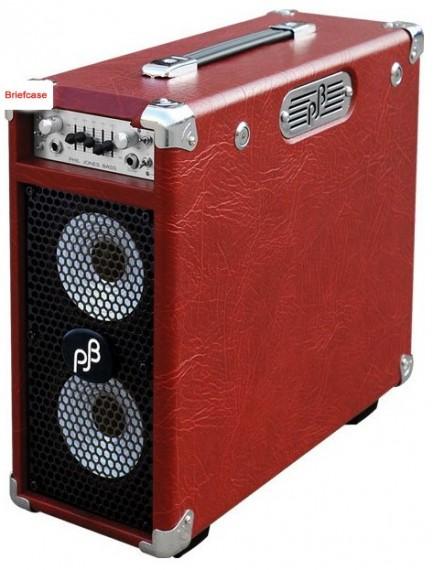 phil jones briefcase 100w portable bass amp red bassanova. Black Bedroom Furniture Sets. Home Design Ideas