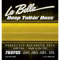 LaBella 760FGS Bass Deep Talkin´ Bass Gold Flat Wound