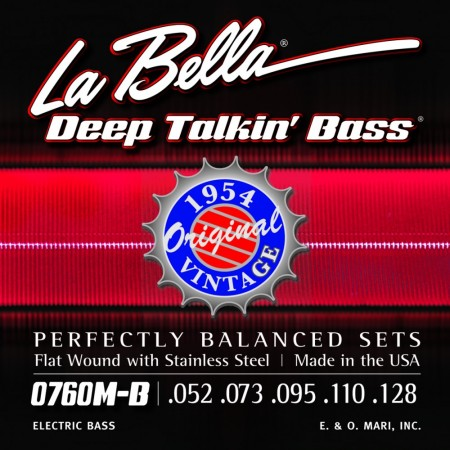 LaBella 0760M-B Bass Deep Talkin´ Bass 1954 Stainless Steel Flat Wound 5Str.