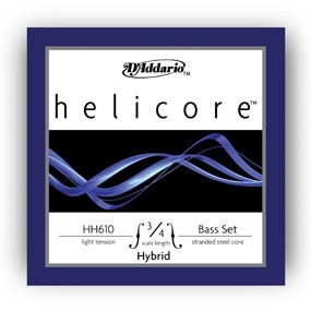 D´Addario HH610 3/4L Helicore Hybrid Bass 3/4 Scale Light