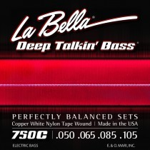 LaBella 750C Bass Deep Talkin´ Bass Cpr Whte Tape Wound Wound