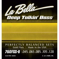 LaBella 760FGS-B Bass Deep Talkin´ Bass Gold Flat Wound 5 String