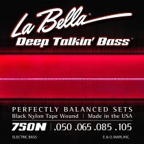 LaBella 750N Bass Deep Talkin´ Bass Black Nylon Tape Wound Wound
